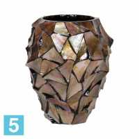 Напольное кашпо Fleur ami Shell Orchid Planter mother of pearl 17-d, 24-h, коричневое
